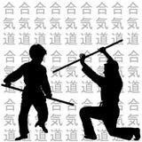 Children practicing Aikido Stock Image