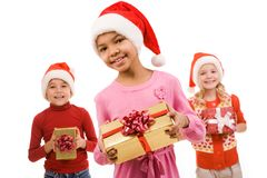 Children with presents Stock Image