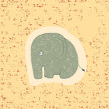 Children print. Funny elephant. Royalty Free Stock Photos