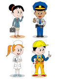 Children profession character Stock Images