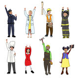 Children with Professional Occupation Concept Royalty Free Stock Photography