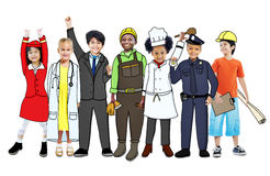 Children with Professional Occupation Concepts Stock Images