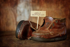 Children Protection Day nobody. Concept pictures never aging toys in an old vintage style Stock Image