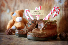 Children Protection Day nobody. Vintage objects in the composition of the concept of nostalgia of the past Stock Photo