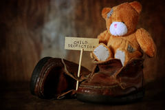 Children Protection Day nobody. Vintage objects in the composition of the concept of nostalgia of the past Royalty Free Stock Photo