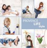Children in  provence style Royalty Free Stock Photography