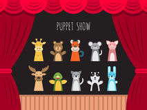 Children puppet theatre Royalty Free Stock Photos