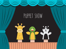 Children puppet theatre Royalty Free Stock Photography