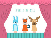Children puppet theatre Royalty Free Stock Image