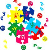 Children puzzle pieces Royalty Free Stock Image