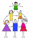 Children pyramid Royalty Free Stock Image