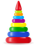 Children pyramid toy vector illustration Stock Photo