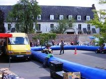 Children quadbike tor wyścigów konnych Anvin Francja Zdjęcia Stock