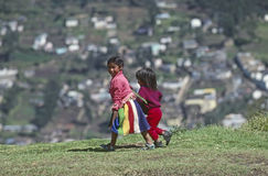 Children in Quito Stock Photo
