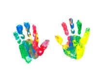 Children ręki druki Obrazy Royalty Free