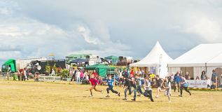 Children racing at Nairn Show Stock Photo