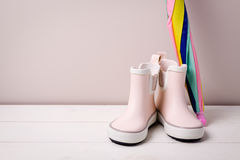 Children rain boots. Stock Photography