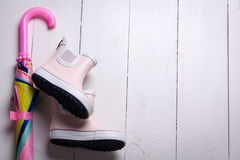 Children rain boots. Stock Image
