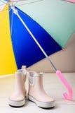 Children rain boots. Stock Photo