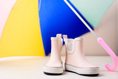 Children rain boots. Royalty Free Stock Images