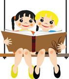 Children read a book Royalty Free Stock Photos