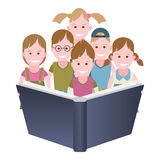 Children read a book Stock Photography