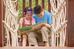 Children read books Royalty Free Stock Photography