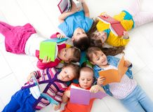 Children are reading stock images
