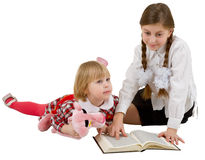 Children reading book Stock Photo