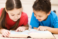Children is reading book Stock Photo