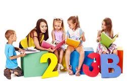 Children reading book Stock Image