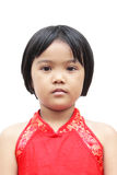 Children with red chinese dress Royalty Free Stock Photos
