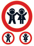 Children restriction sign Royalty Free Stock Photos