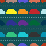 Children retro cars seamless background pattern Royalty Free Stock Images