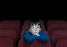 Children in retro cinema Stock Image