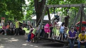 Children retro swing Royalty Free Stock Photos