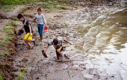 The children. Revel in Sea Lake, Gia Lai, Viet Nam Royalty Free Stock Image