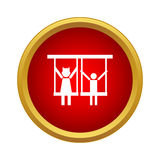 Children ride on swing icon, simple style Royalty Free Stock Images