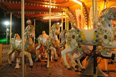 Children Rides. And carousel Ride Royalty Free Stock Image