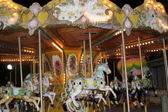 Children Rides. And carousel Ride Stock Photography