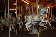 Children Rides. And carousel Ride Royalty Free Stock Photography