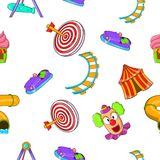 Children rides pattern, cartoon style Stock Photography