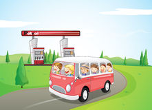 Children riding on a bus Stock Image