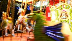 Children riding on Carousel Royalty Free Stock Image