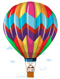 Children riding in the hotair balloon. Illustration Stock Photography
