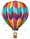 Children riding in the hotair balloon Stock Photography
