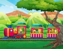 Children riding on the train Stock Photos