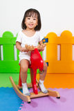 Children Riding Trojan Stock Photos