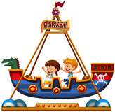 Children riding on viking Royalty Free Stock Photo