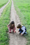Children on road Stock Photography
